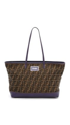 What Goes Around Comes Around Fendi Zucca Roll Tote