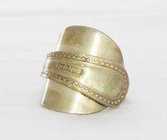 Beautiful brass spoon ring by Helen du Toit
