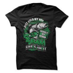 (Tshirt Choice) Just hold my rod Wiggle my worm at Tshirt United States Hoodies, Tee Shirts