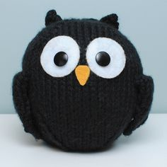 Just Crafty Enough – knitting Project – Little Black Owl