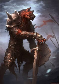 Art by Francis Brunet Dungeons And Dragons Characters, Dnd Characters, Fantasy Characters, Fantasy Character Design, Character Inspiration, Character Art, Fantasy Races, Fantasy Warrior, Fantasy Monster