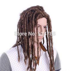 Spedizione gratuita!!!  Dreadlocks parrucche dei capelli ricci parrucche rotoli capelli ricci cosplay costume africano parrucca nera