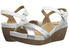 Womens Sandals Vaneli Paulie Silver Metallic/White Nappa