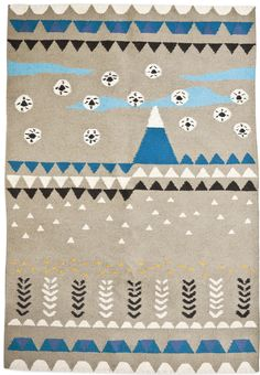 "anna's super rug ""Flaky fields & mountain drops"""