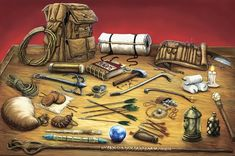 Adventurer's  gear. YOU FORGOT THE SOAP!