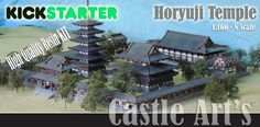 Wargame News and Terrain: Castle Arts: 10mm Horyuji Temple - Resin Kit Kicks...