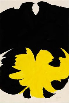 Yellow/Black - Jack Youngerman Artwork, Art, Art Database, Post Painterly Abstraction, Artwork Painting, Jack Black, Painting, Visual Art, Art Design