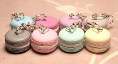 Fimo : 8 macarons couleur pastel