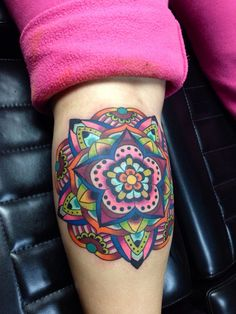 mandala tattoo - colorful
