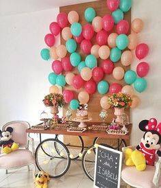 90th Birthday Parties, Mom Birthday Gift, Birthday Party Decorations, Its A Boy Balloons, Baby Shower Balloons, Balloon Backdrop, Little Pony Party, Birthday Pictures, Baby Party