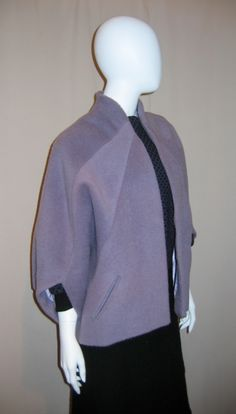 This little beauty is based on a Balenciaga design. Coat Patterns, Sewing Patterns, Cocoon Jackets, Cocoon Coats, Pattern Cutting, Pattern Making, Clothes Crafts, Couture, Handmade Clothes