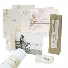 """Hochzeitskarten - Kartenset """"Cassandra"""" mit zarten Ornamenten - weddix"""