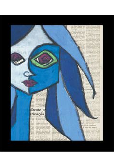 FROM THE BLUE mixed media with silkscreens on paper by Romero Britto $1875