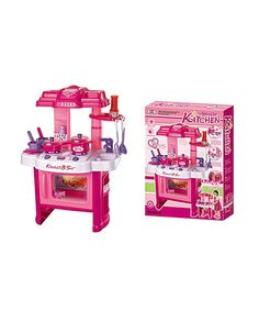 Look at this Pink Deluxe Beauty Kitchen Play Set on #zulily today!