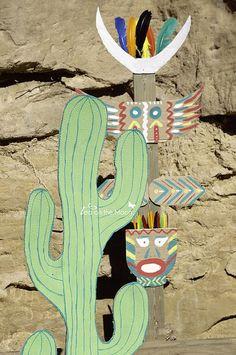 Cardboard Cactus + Totem Pole | love