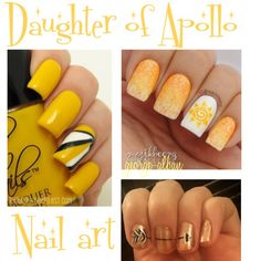 Daughter of Apollo - Nail art by george-alban on Polyvore