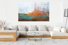 Resting nature – XXL abstract landscape Dark Interiors, Metallic Colors, Abstract Styles, Acrylic Painting Canvas, Abstract Landscape, Abstract Art, Warm Colors, Lovers Art, Contemporary Art