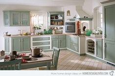 15 designuri de bucatarii vintage- Inspiratie in amenajarea casei - www.povesteacasei.ro