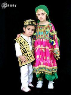 White shalwar kameez with jacket and pink green frock style pathani dresses for baby girls and baby boys 2018 Afghanistan Culture, Afghani Clothes, Pakistani Culture, Muslim Culture, Afghan Girl, Afghan Dresses, Baby Girl Dresses, Traditional Dresses, Islam Beliefs