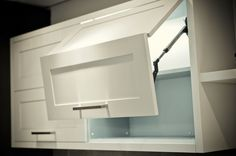 Image detail for -... Door Lift System | Meridian Wide Rail Kitchen | Nickels Cabinets