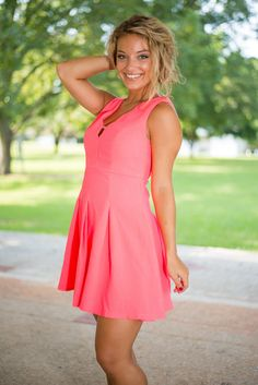 Impact Out Party Dress, Hot Pink