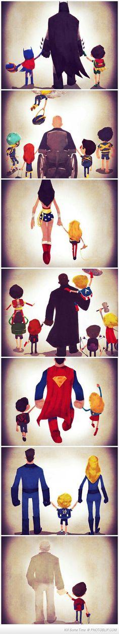 Super Hero Family Time... ah the last one kills! :'(