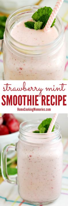 Start your day with this delicious Strawberry Mint Smoothie recipe! Blended with frozen strawberries, fresh mint leaves, yogurt, milk, and…