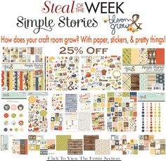 Turn to AllScrapbookSteals.com for the greatest selection of scrapbooking products. We're one of the leading online scrapbook stores. Order from us today. Online Scrapbook, Scrapbook Supplies, Scrapbook Paper, Scrapbooking, Simple Stories, Card Stock, Bloom, Kit, Crafts