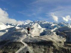Walking over the Glacier
