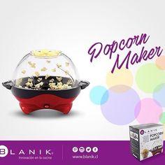 ¡Hacer palomitas nunca había sido tan fácil!!! Con Popcorn Maker de #Blanik podrás disfrutar de tu receta de Palomitas favorita y llenar tu día de emociones.  http://ow.ly/X7tRL