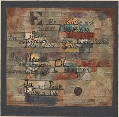 Collection Online   Paul Klee. (From the Song of Songs) Version II ((Aus dem hohen Lied) (II. Fassung)). 1921 - Guggenheim Museum
