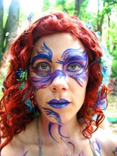 The Form Below To Delete This Mermaid Face Paint Painting Image From cakepins.com