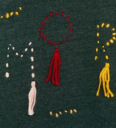 Image 4 of PLUSH JERSEY T-SHIRT WITH POMPOMS from Zara