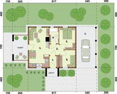 DOM.PL™ - Projekt domu PT AWINION dom letniskowy szkielet drewniany CE - DOM PD18-49 - gotowy koszt budowy Floor Plans, Country Houses, Floor Plan Drawing, House Floor Plans