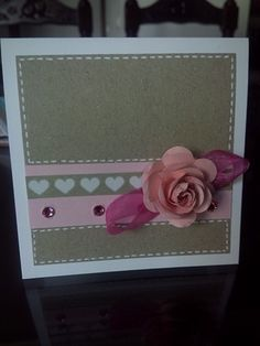 Mini tarjeta scrap con rosa