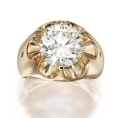 Gold and Diamond Ring - Sotheby's Pinky Rings, Mens Pinky Ring, Gold Jewelry, Jewelry Rings, Jewelery, Ice Chips, Gold Diamond Rings, Problem Solving, Artisan Jewelry