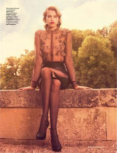 """""""Fire Walk with Me"""" : Hailey Clauson : Vogue Russia August 2011 : Miguel Reveriego"""