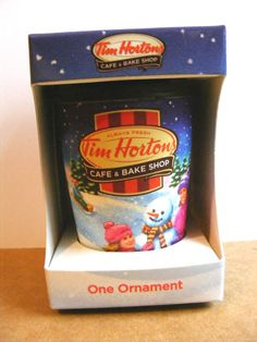 "Tim Hortons 2013 ""To Go"" Cup Christmas Ornament, Support Wildlife Rehab Coffee Cans, Coffee Shop, Entrepreneurship Education, Canadian Christmas, Tim Hortons, Diva, Nostalgia, Wildlife, Canada"