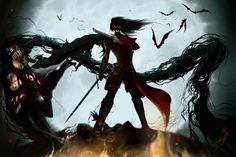 Dark Warrior Gothic Dark Sword Killer Vampire VanHellsing Dracula