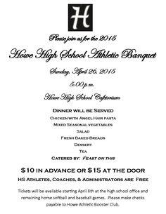Sample Sports Banquet Program (PDF)   Sports & Activity Banquets ...