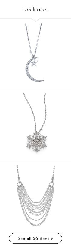 """Necklaces"" by ladyraven18 ❤ liked on Polyvore featuring jewelry, necklaces, 18 karat gold necklace, diamond necklace, 18k jewelry, 18k necklace, star necklace, accessories, colar and bijoux"