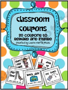 ~classroom rewards 32 Fun, Easy, and virtually Free (all but one) Classroom Coupons. Coupons are ready to print and cut. Print them in color or gray scale! Classroom Rewards, Classroom Behavior Management, Kindergarten Classroom, Future Classroom, School Classroom, School Fun, Classroom Organization, Classroom Ideas, School Ideas