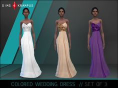 The Sims Resource: Colored Wedding Dresses by SIms4Krampus • Sims 4 Downloads