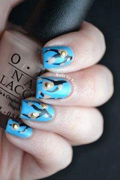 Nails by Kayla Shevonne: Edgy Cherry Blossom Nail Art