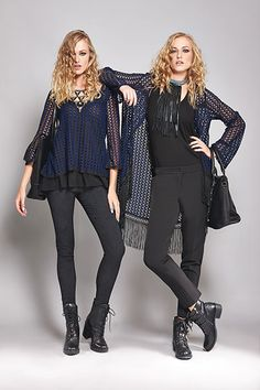 Create a cool all-day long outfit suiting a crochet lace cardigan or knitted top with your fav black  pants.   Enjoy the boho side of fall winter collection 2014!