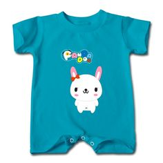 Panda Rabbit Turquoise Cute T-romper For Baby Supply-Funny Clothing price as low as $5.99,Choose from tons of designs to customize your own t-shirts. Customized shirt make great gifts.
