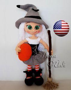 PATTERN Cute Witch crochet amigurumi by HavvaDesigns on Etsy
