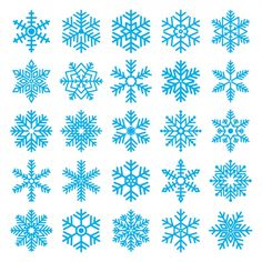 Different snowflakes Free Vector Felt Christmas, Christmas Crafts, Christmas Decorations, Christmas Ornaments, Merry Christmas, Snowflake Template, Snowflake Designs, Felt Crafts, Diy And Crafts