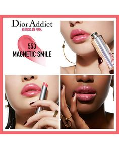 Shop Dior's Dior Addict Stellar Shine Lipstick at Sephora. A next-generation lip shine with up to eight hours of shine, hydration, and sheer, vibrant color. Dior Lipstick, Dior Makeup, Pink Lipsticks, Makeup Cosmetics, Lipstick Swatches, Makeup Swatches, Lipstick Shades, Liquid Lipstick, Dior Addict