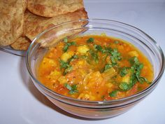 "Alu Bhaaji (Potato Curry) from ""Hooked on Heat"" is easy and healthy..."